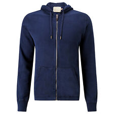 NEW + TAGS * JOHN LEWIS & co * NAVY BLUE COTTON HOODY ZIP JACKET SIZE M RRP £45