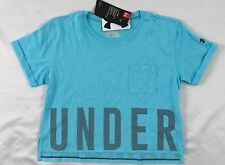 Under Armour GIRL'S Athletic Shirt Loose HeatGear Baby Blue Size YOUTH M