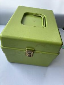 Vintage Wil-Hold Sewing Pattern Box with 4 Dividers Green Wilson Retro