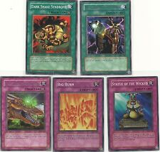 LOT 5 YUGIOH LOB LOD MFC IOC PGD Magic Trap Spell-UNL 1ST EDITION:Big Burn+ MINT