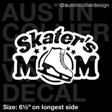 "6.5"" SKATER'S MOM vinyl decal car window laptop sticker - ice figure skating"