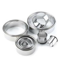 14pc Stainless Steel Round Cake Biscuit Cookie Cutter Mold Baking Mould Tool Set