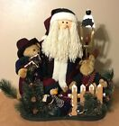 Grandeur Noel Fabric Santa & Friends Collector's Edition 2002 Christmas Decor
