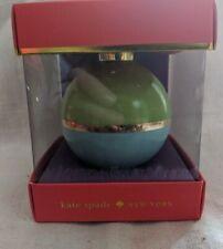 Lenox Kate Spade Be Merry, Be Bright Green/Turquoise Christmas Ornament Nib