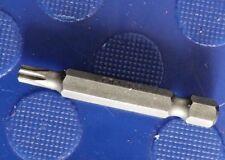 """T25 Tx pedacito de destornillador Torx 50 mm Cromo vanadio 1/4"""" hexagonal Suelto"""