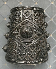 (B) Antique Silver Cuff Tribal Exquisite
