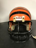 USED RIDDELL FOOTBALL HELMET - Large Youth - Orange& Black Strips