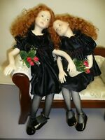 "OOAK Redheaded ""Sisters Portrait"" by Annalisa Venturini, Polymer Clay Sculpted"