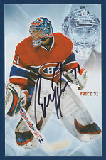 CAREY PRICE MONTREAL CANADIENS 07-08 AUTOGRAPH NRMINT+/MINT 11034