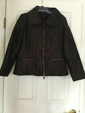 Brown Women's Coat Jacket  Two Tone Size Medium M by Spanner
