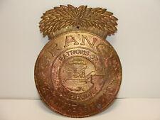 RARE 1940's Vintage Grange Insurance Patrons of Husbandry Plaque Brass