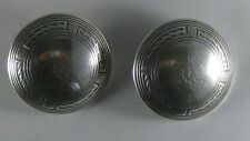 Vintage Navajo Sterling Stamped Grasshopper Bug Clip Round Dome Earrings 26.8g