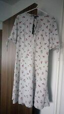 NEW NEWLOOK Urban Bliss Navy Floral Tie Sleeve Skater Dress UK12