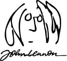 "The Beatles John Lennon Music Bumper Sticker 5"" x 5"""