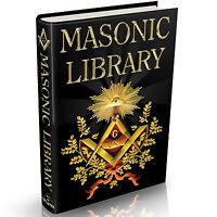 Ultimate Masonic Library - MASSIVE 1800+ Books on DVD Freemason The Craft Occult