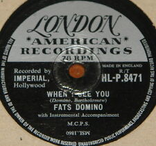 FATS DOMINO ~ WHAT WILL I ~ WHEN I SEE ~ UK 78 RECORD ~ ROCK N ROLL ROCKABILLY