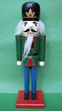 "NWOB Christmas  Wood Nutcracker Soldier Guard Green 15"" tall"