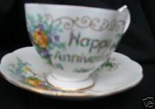 Queen Anne Cup  Saucer  BONE CHINA Anniversary  Vintage!