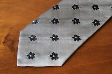 KENZO Authentic Men's 100% Silk Gray Tie Free Shipping Brand New Made in Italy