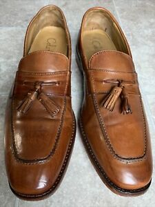 Cole Haan NikeAir Loafers Brown Moc Toe Tassel Slip On Shoes Men's Size 9.5M