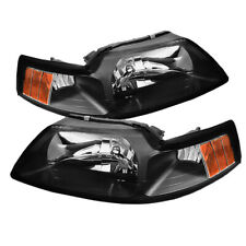 Ford 99-04 Mustang Black Housing Replacment Headlights GT Mach SVT Cobra