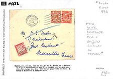 """M272 1933 maidenhead, Berks alla Francia """"P. fermoposta tariffa EX del contenuto, Bucks"""""""