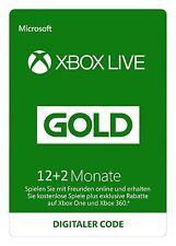 Xbox Live Gold 12+2 =14 Monate EU Mitgliedschaft Code Key - SOFORT PER MAIL