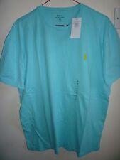 Ralph Lauren Men's Light Turquoise Crew Neck T Shirt New size M