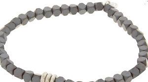 Tateossian Grey Beaded Bracelet BR1601 size 17.5cm