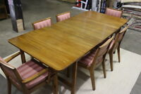 Edward Wormley/DREXEL Precedent Mid-Century Dining Room Table & 6 Chairs
