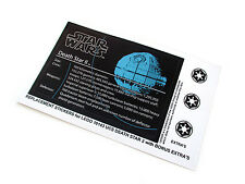 STAR WARS 'DIE CUT' REPLACEMENT STICKERS for Lego 10143 DEATH STAR II + BONUS