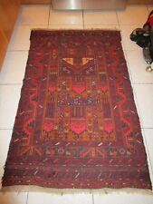 "Antique 19c Caucasian 32x51"" Tribal Carpet Hand Knotted Strong Colors c1890"