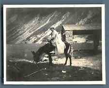 France, Madame F. Bousquet au Lac de Gaube  Vintage silver print.  Tirage arge