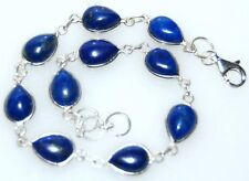 925 Sterling SILVER Lapis Bracelet Authentic Natural Gems Jewellery Chakra Stone