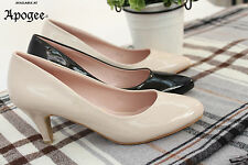Unbranded Leather Court Synthetic Kitten Shoes for Women