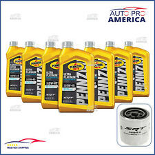 (7) 1 Qt Pennzoil 0W40 Full Synthetic Motor Oil & (1) Oem Mopar Srt Oil Filter