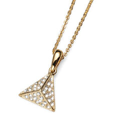 Equal Gold Pyramid Pendat Neacklace with Swarovski Clear Elements Oliver Weber