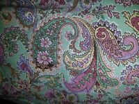 Tommy Hilfiger twin paisley reversible comforter