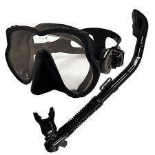 Promate Scuba Frameless Dive Mask Dry Snorkel Gear Set Snorkeling Spearfishing