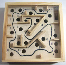 Wooden Labyrinth Puzzle Maze Game Wooden Tilt Box Educational Toy Physical Skill