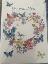 PAPYRUS MOTHERS DAY CARD NIP $6.95 Butterfly Hearts