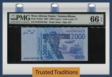 TT PK 916Sb 2004 WEST AFRICAN STATES / GUINEA-BISSAU 2000 FRANCS PMG 66 EPQ GEM!