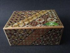 Japanese Yosegi Puzzle Box Samurai Wooden Secret Trick Box 4 Sun 21 Steps HK-125