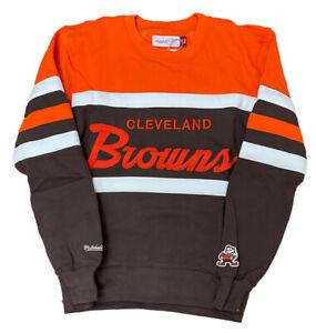Men's Mitchell & Ness NFL Cleveland Browns Head Coach Crewneck