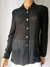 SUPERIOR Camicia Shirt donna TG.42 in viscosa 100% colore nero