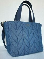 New Kate Spade New York Ellie small Tote Nylon handbag Denim