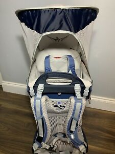 Osprey Poco AG Unisex Hiking Child Carrier Pack Blue / Grey - With Rain Cover