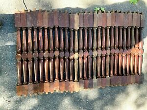 """Vintage Lot 53 Wood Walnut Mahogany Staircase Salvaged Spindles Balusters 29"""""""