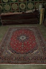 Nice Traditional Antique Handmade Kashan Persian Rug Oriental Area Carpet 10X13