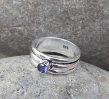 Amethyst Ring 925 Sterling Silver Spinner Ring Meditation statement Ring SR305